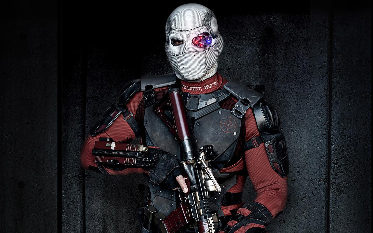 Обои для рабочего стола Отряд самоубийц 2016 Will Smith мужчина Deadshot кино Маски Знаменитости Уилл Смит Мужчины Фильмы