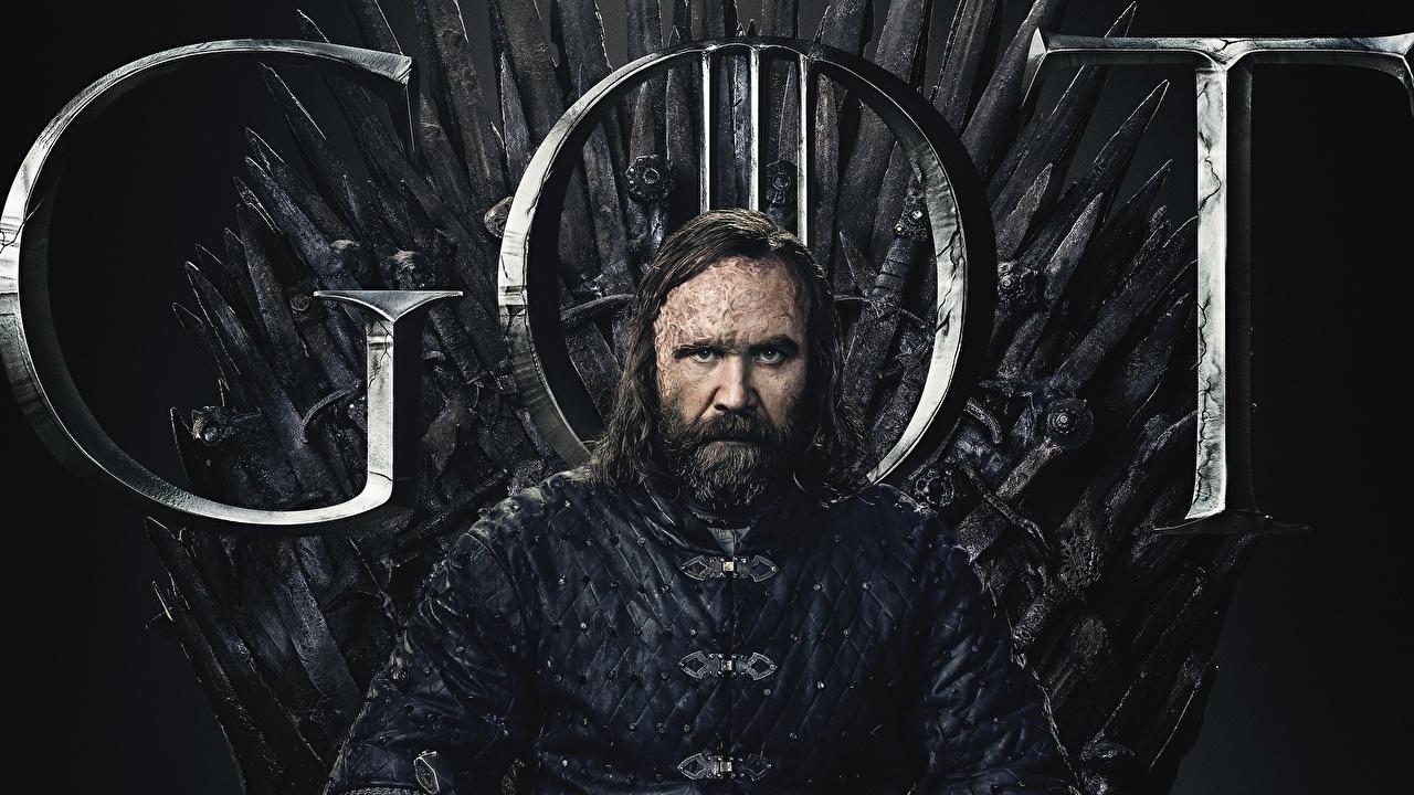 Картинка Игра престолов (телесериал) Мужчины троне Rory McCann, Sandor Clegane Hound Борода кино мужчина Трон трона бородой бородатый бородатые Фильмы
