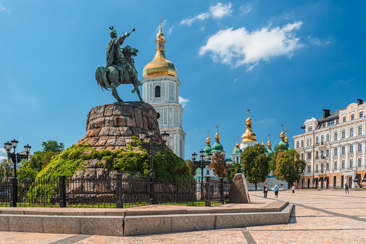 Фотографии Киев Украина Памятники Городская площадь Города городской площади город