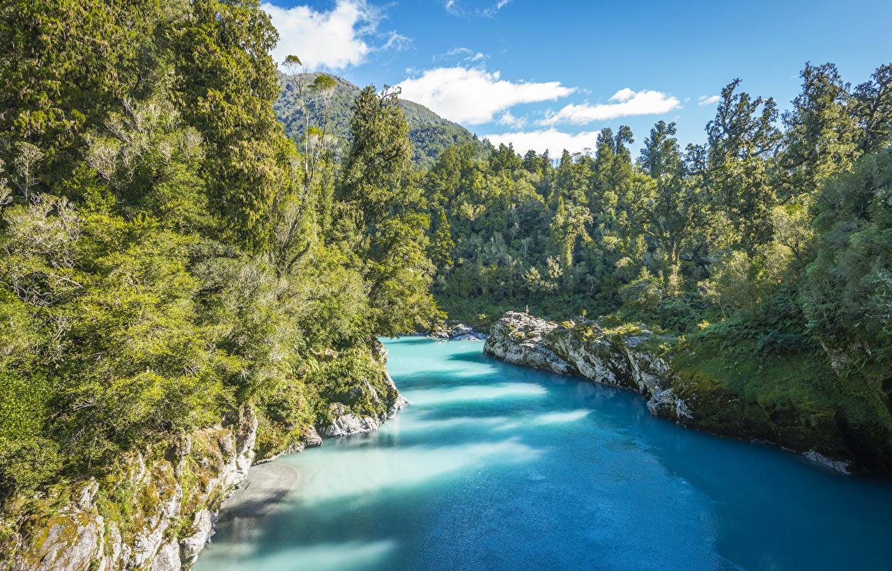Новая зеландия Hd: Обои Новая Зеландия Kowhitirangi Природа Леса Реки
