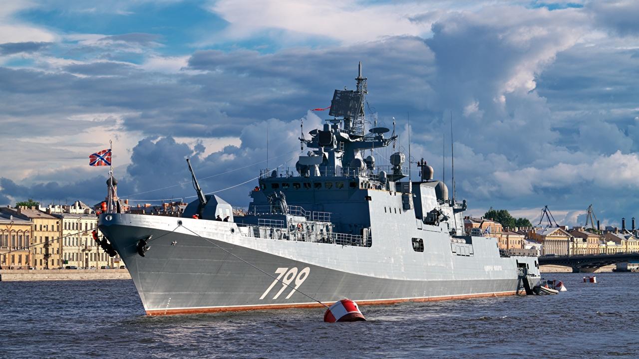Фотографии российские Frigate, project 11356Р, Admiral Makarov Корабли военные Русские корабль Армия