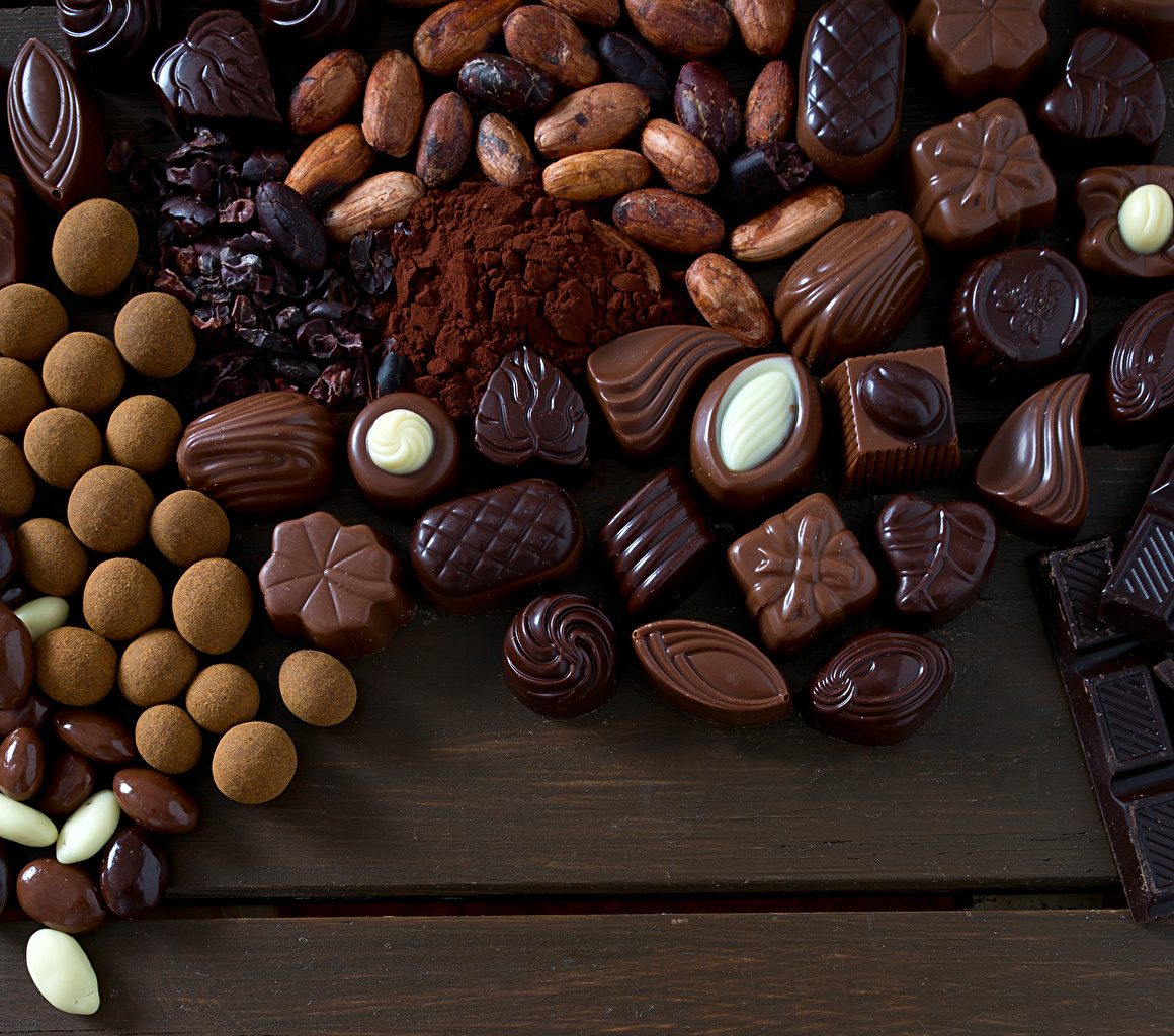 Картинки Шоколад Конфеты Еда Сладости Пища Продукты питания
