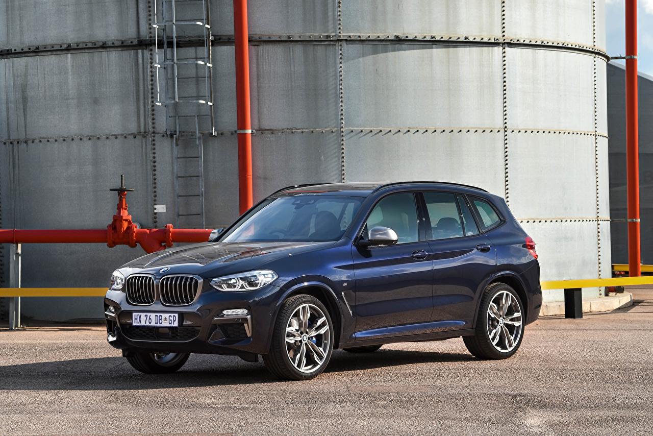 Фото BMW Кроссовер 2019 X3 M40d синяя Металлик автомобиль БМВ CUV синих синие Синий авто машина машины Автомобили