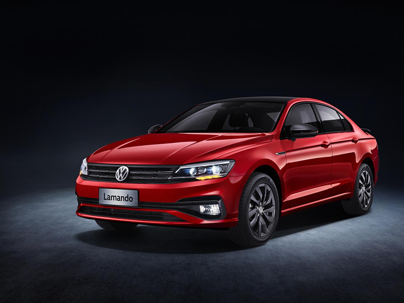 Фотография Volkswagen Lamando Black Pack, 2020 Красный Металлик Автомобили Фольксваген красная красные красных авто машины машина автомобиль