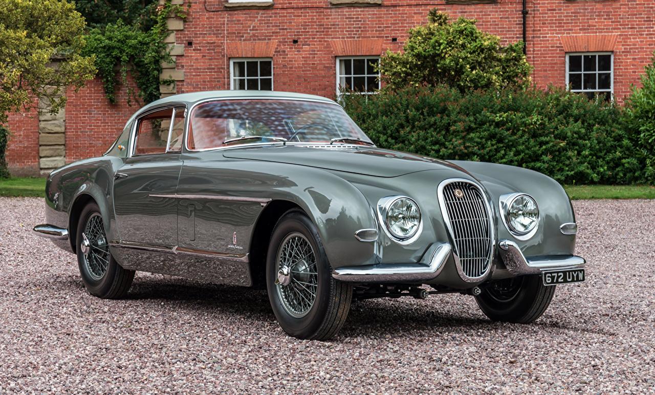 Фотографии Ягуар 1954 XK120 SE Coupe Pininfarina Винтаж Металлик Автомобили Jaguar Ретро старинные Авто Машины