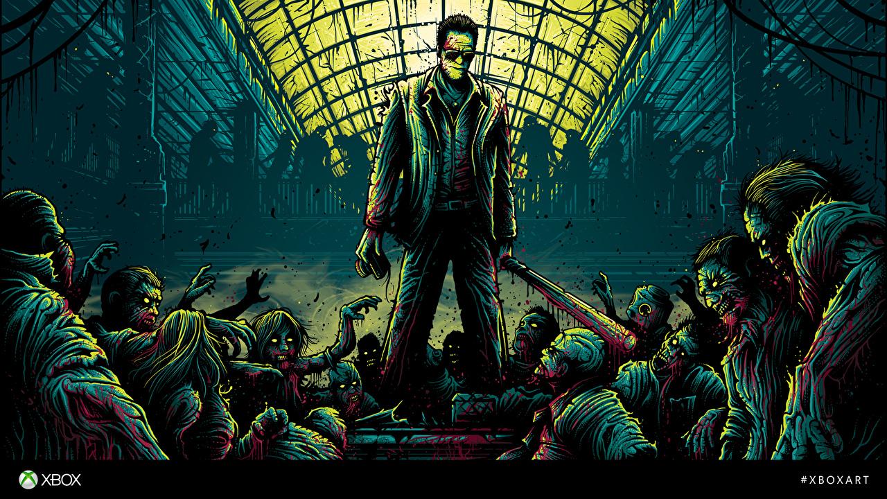 Картинки Dead Rising Зомби крови Frank West компьютерная игра Кровь Игры