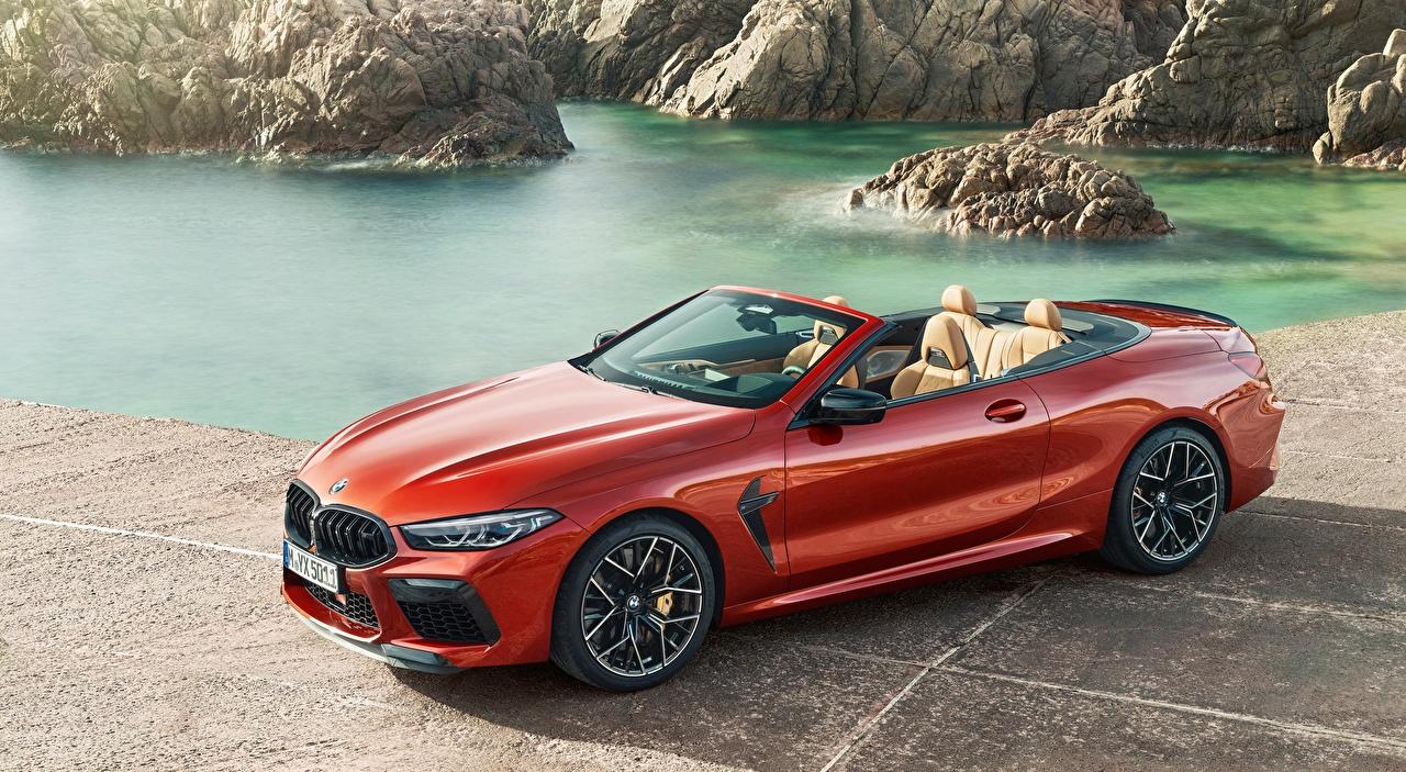 Фотографии БМВ M8, Competition Cabriolet, 2019 Кабриолет красная Автомобили BMW кабриолета Красный красные красных авто машины машина автомобиль