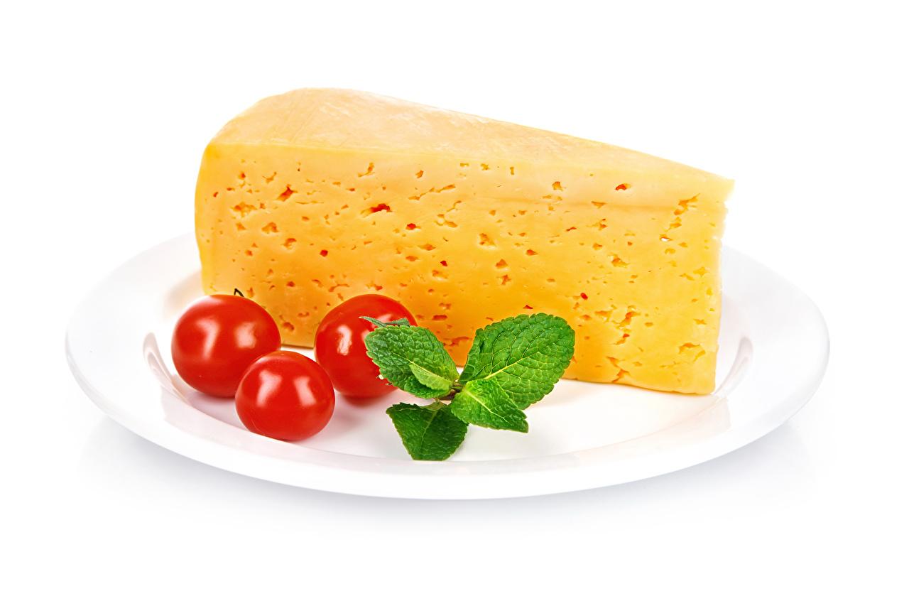 Фото Помидоры Сыры Тарелка Продукты питания Томаты Еда Пища тарелке