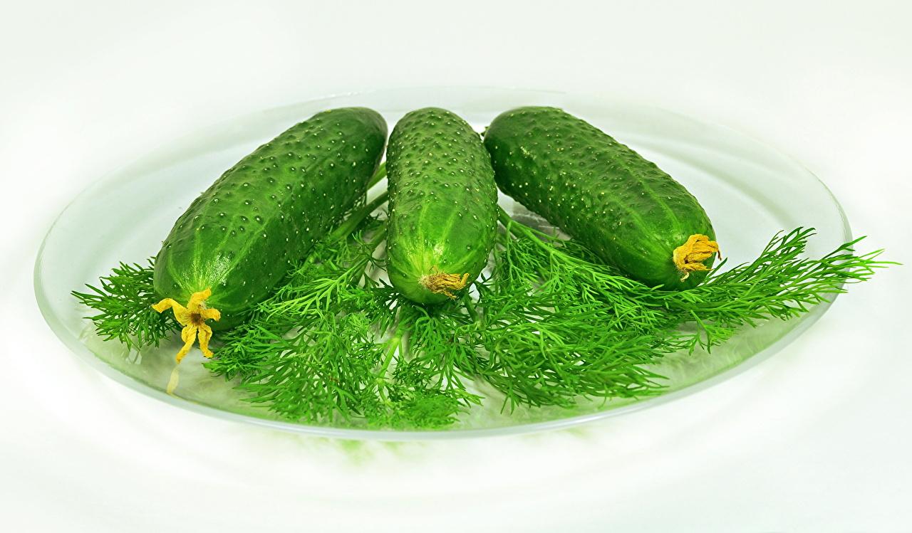 Картинки Огурцы Еда Овощи Пища Продукты питания