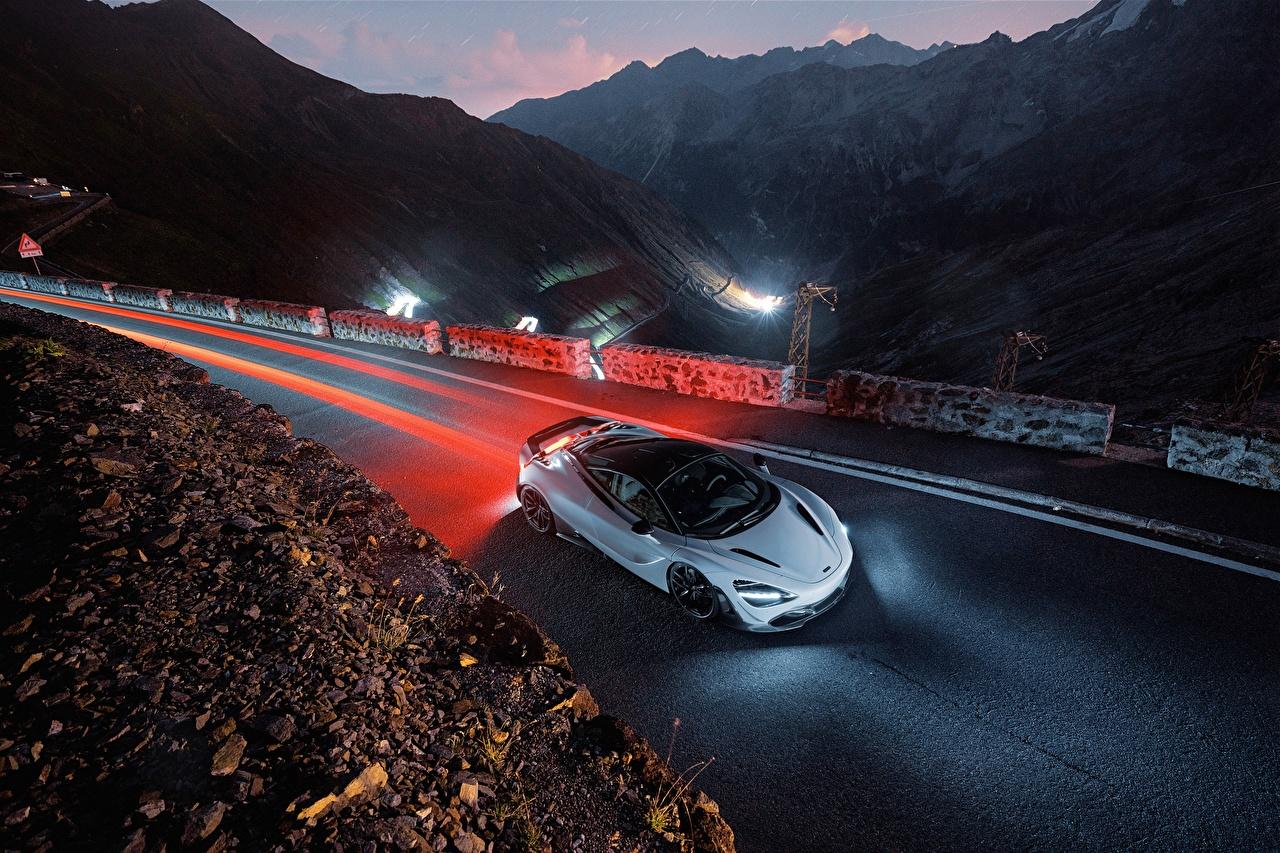 Картинки McLaren 2018 Novitec 720S Авто Вечер Сверху Макларен Машины Автомобили