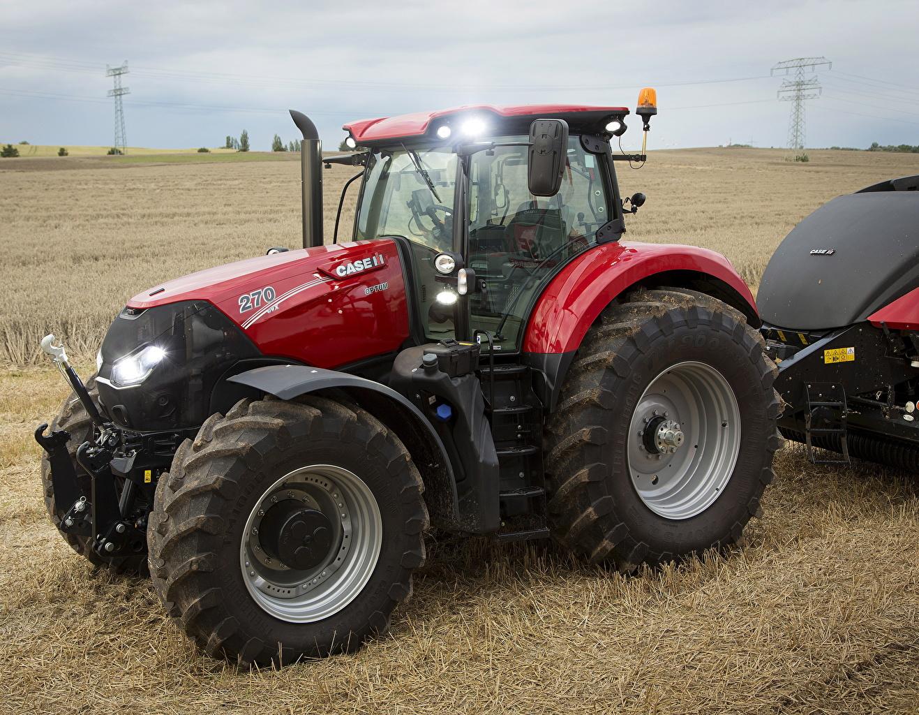Обои для рабочего стола Сельскохозяйственная техника тракторы 2015-17 Case IH Optum 270 CVX Трактор трактора