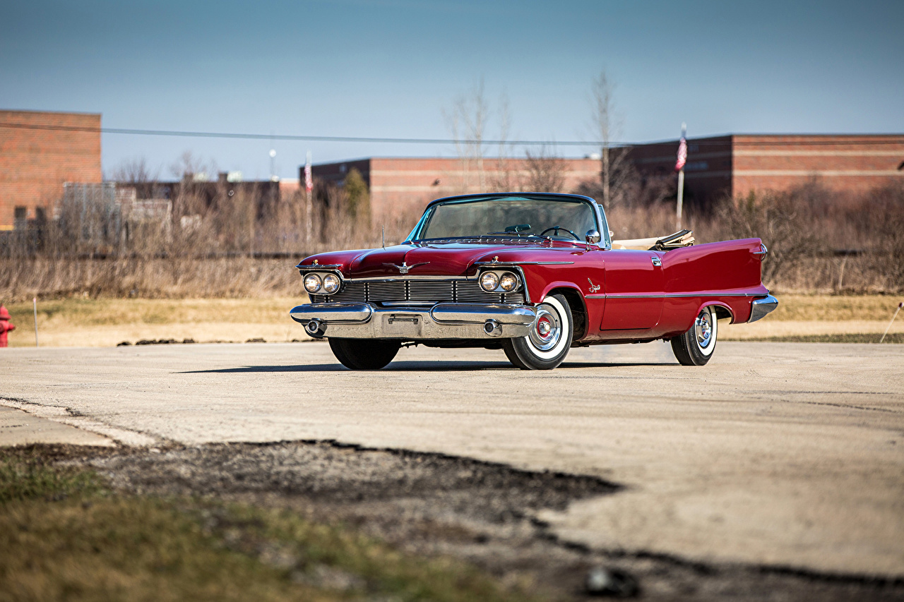 Картинка Крайслер 1958 Imperial Crown Convertible (LY1-M) Кабриолет Ретро Бордовый авто Металлик Chrysler кабриолета винтаж бордовые бордовая старинные темно красный машина машины автомобиль Автомобили