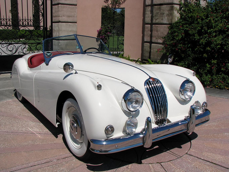 Обои Jaguar 1957 XK 140 Roadster Родстер Машины Ягуар Авто Автомобили