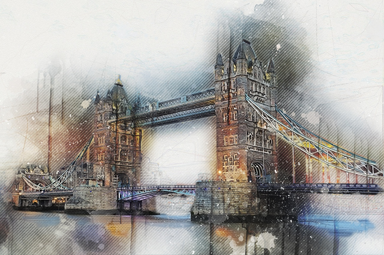 Обои лондоне Англия Мосты Города Лондон