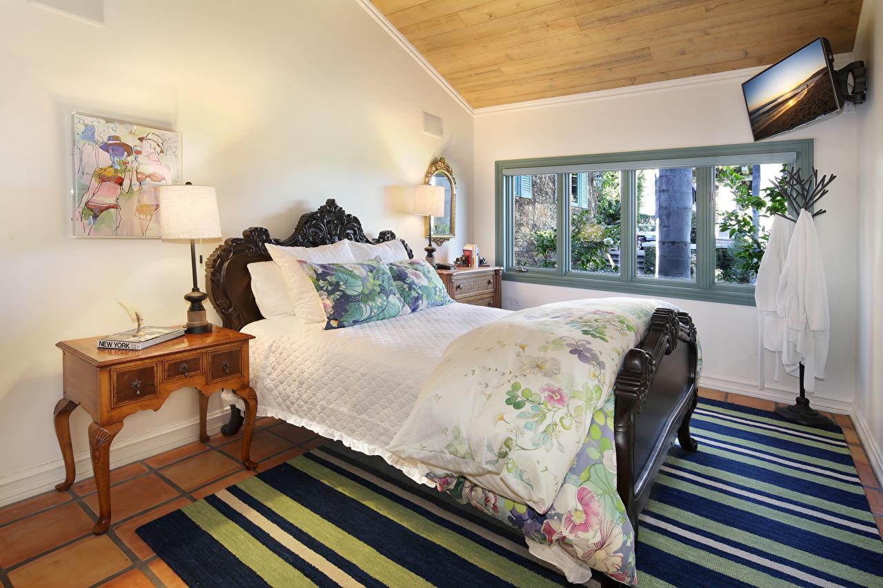 Фотографии Спальня Интерьер лампы Кровать Дизайн спальне спальни ламп Лампа кровати постель дизайна