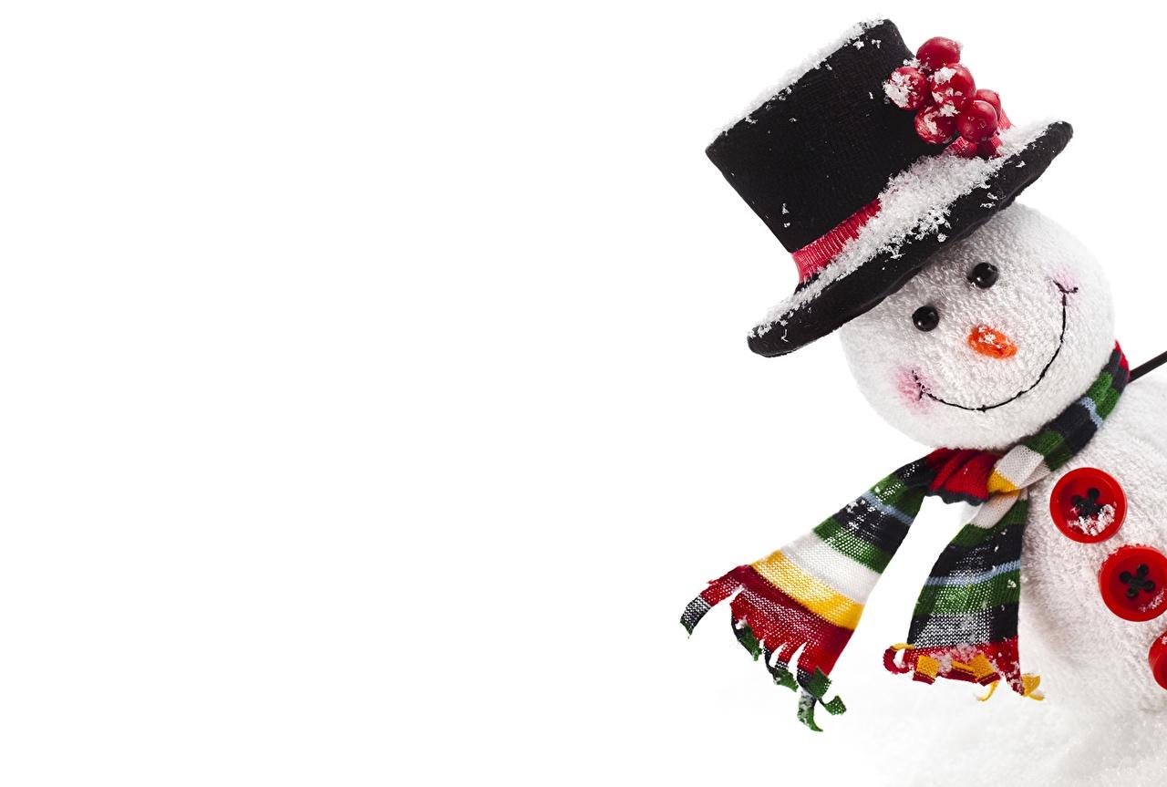 Обои для рабочего стола Рождество Шляпа снеговика Праздники Новый год шляпы шляпе снеговик Снеговики