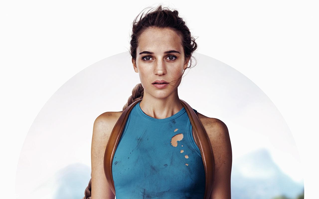 Обои для рабочего стола Знаменитости Алисия Викандер Фильмы Tomb Raider: Лара Крофт 2018 Лара Крофт кино