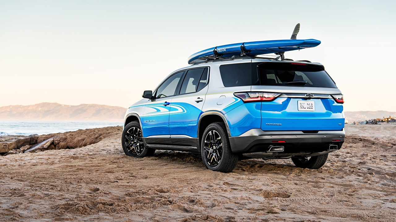 Фотография Шевроле Универсал Traverse SUP Concept машина вид сзади Chevrolet авто Сзади машины автомобиль Автомобили
