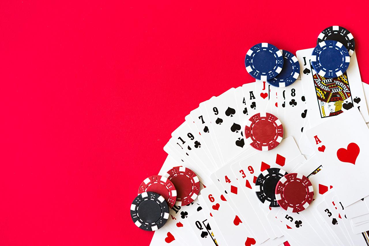 Картинки Фишки Казино Карты Цветной фон игральные карты