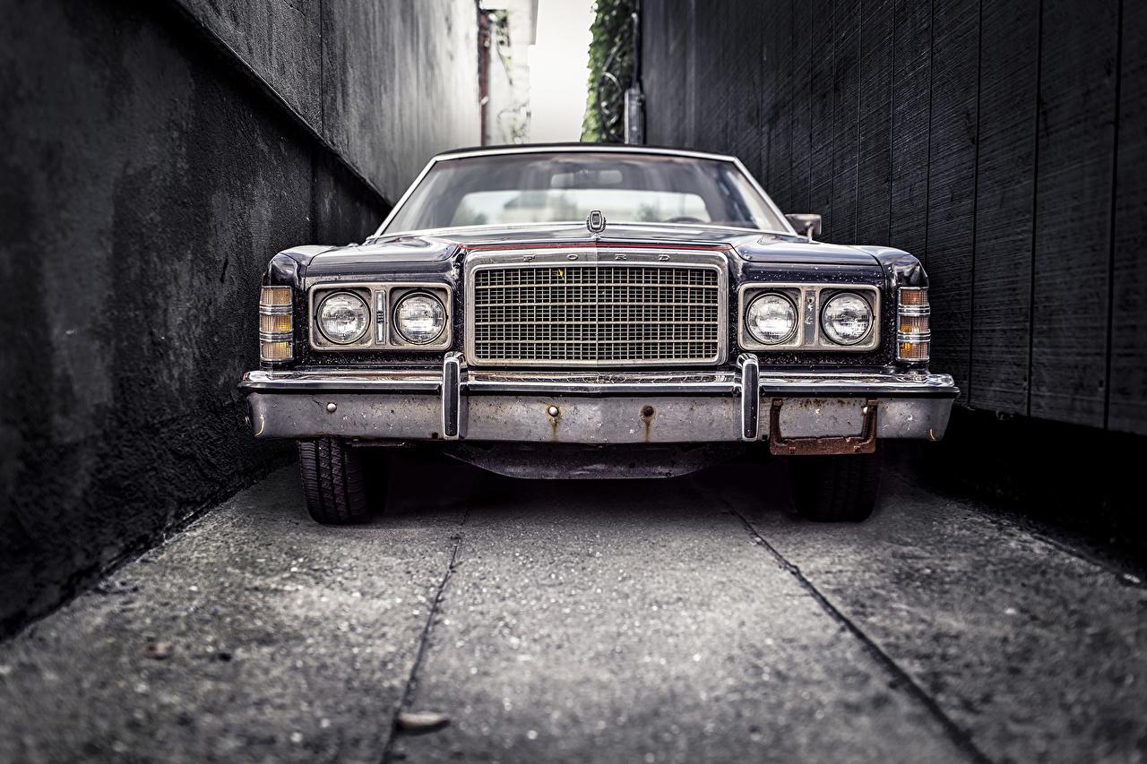 Фотографии Ford винтаж Фары авто Спереди Форд Ретро старинные фар машины машина Автомобили автомобиль
