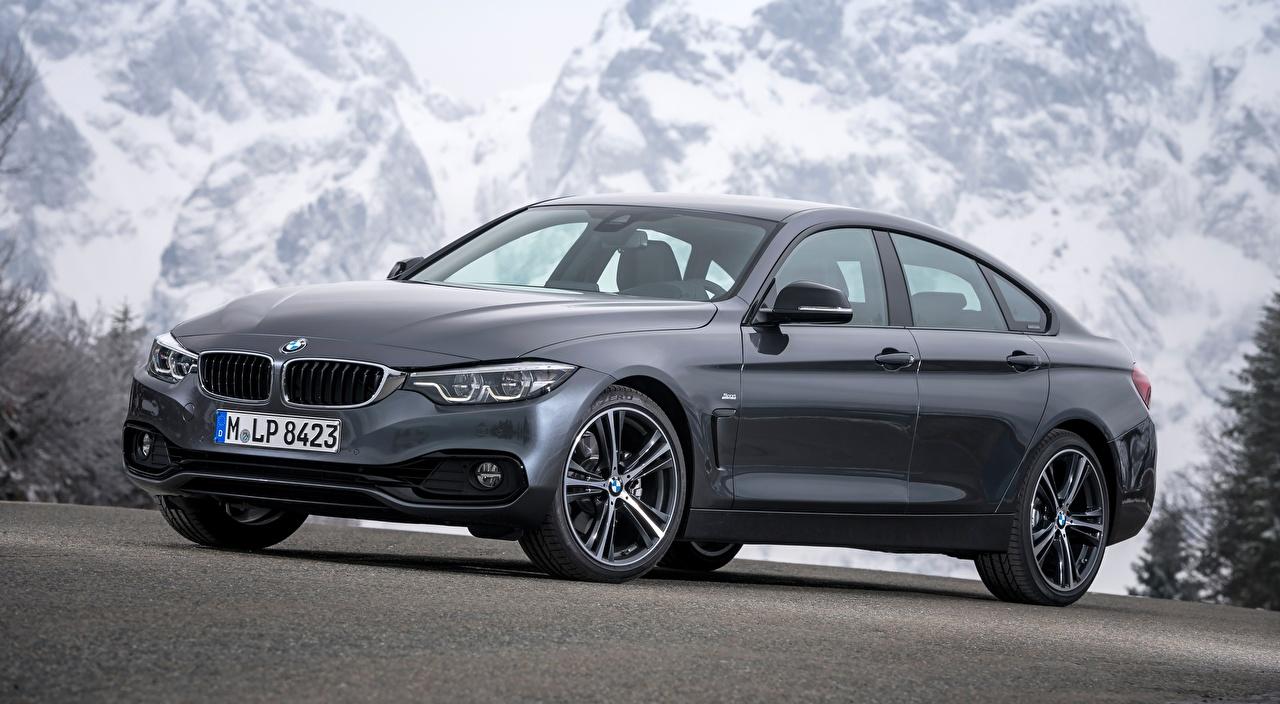 Обои для рабочего стола BMW 4-series, Gran Coupe, Sport Line, 2017 Купе Серый авто БМВ серые серая машина машины автомобиль Автомобили