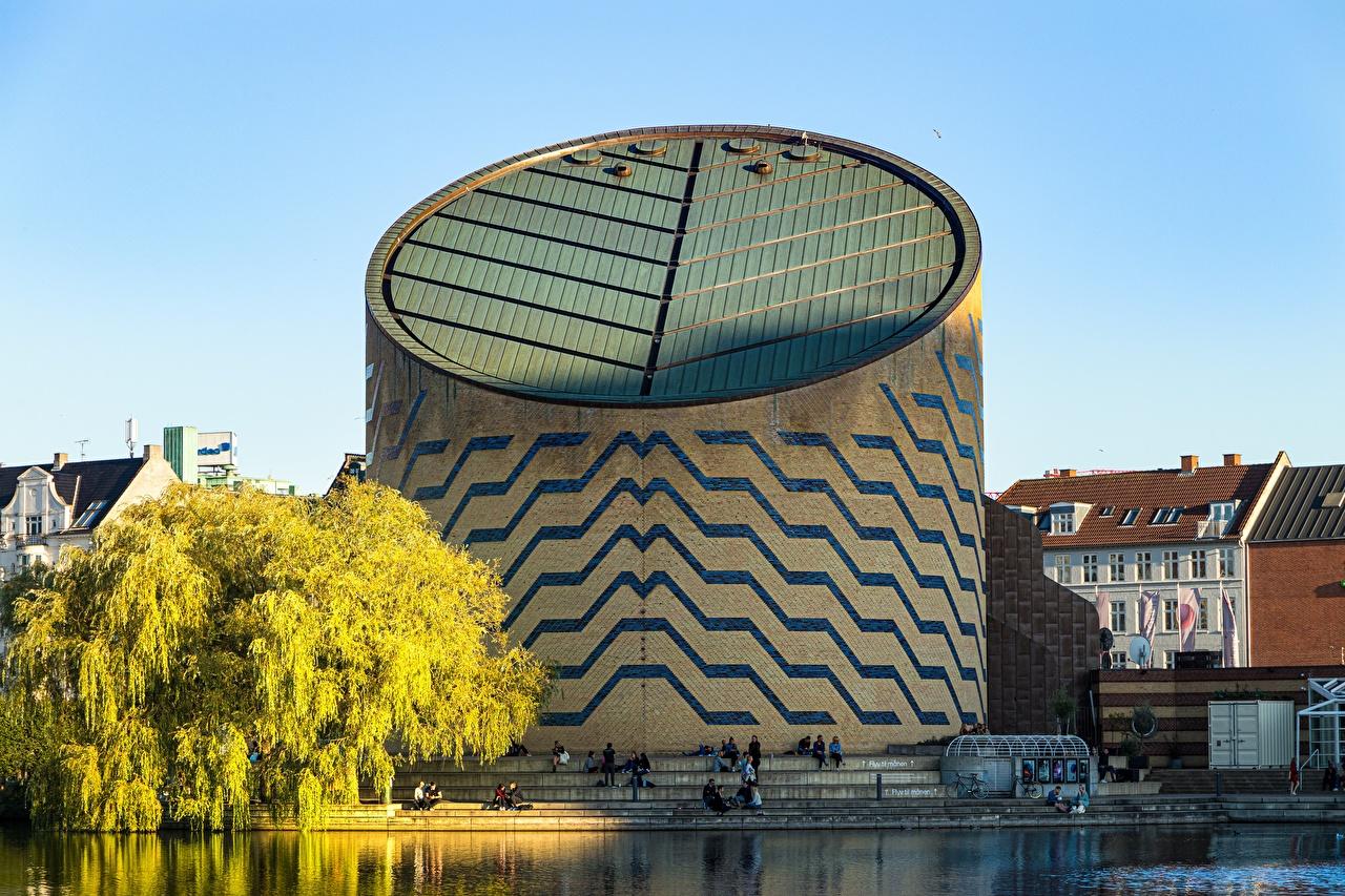 Фотография Копенгаген Дания Saint Joergens, planetarium Озеро Города город