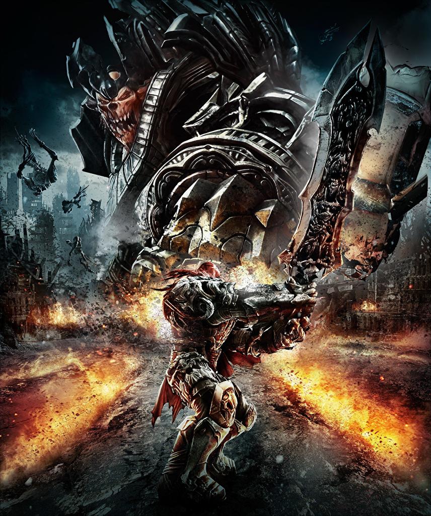 Обои Darksiders Воители Фэнтези Игры воины Фантастика