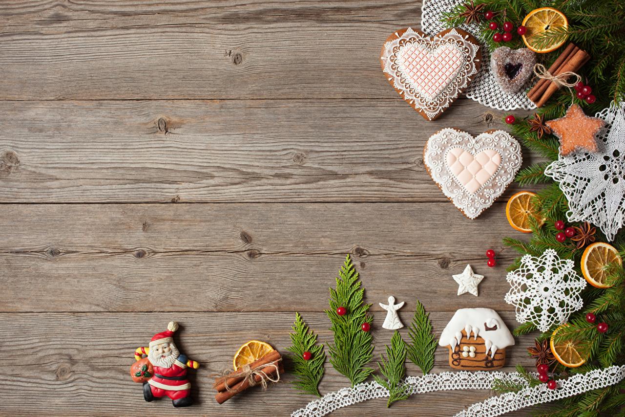 Обои Рождество Сердце Дед Мороз Корица Еда Доски Дизайн Новый год серце сердца сердечко Санта-Клаус Пища Продукты питания дизайна
