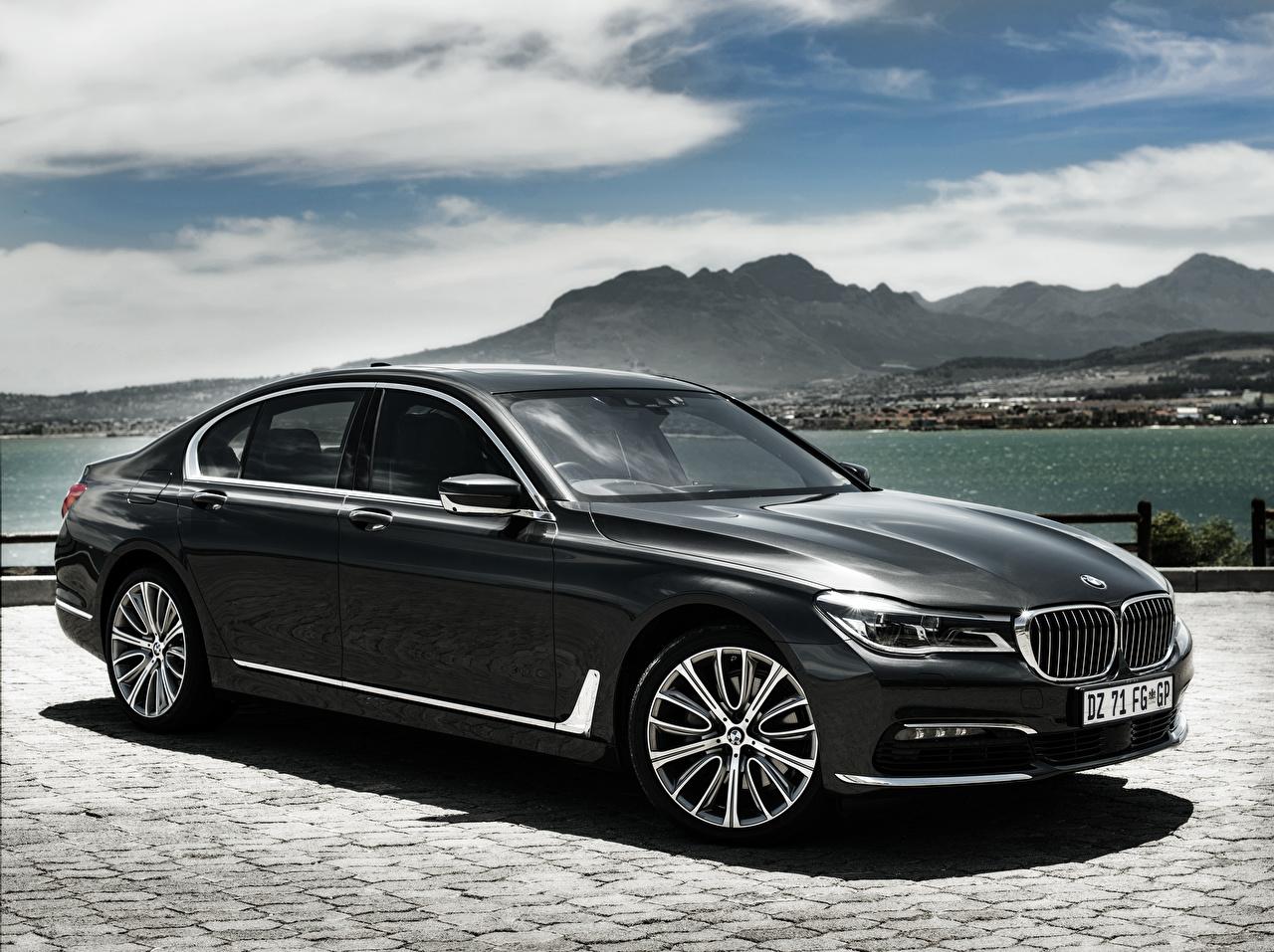 Картинка BMW 7-Series, G11 Седан Черный Автомобили БМВ черная черные черных авто машины машина автомобиль