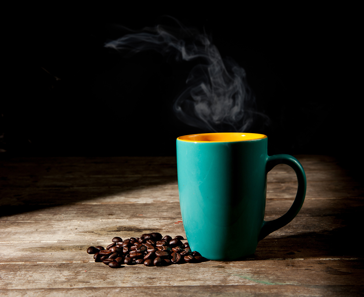 Фото Кофе зерно Еда паром Чашка Зерна Пар Пища пары чашке Продукты питания