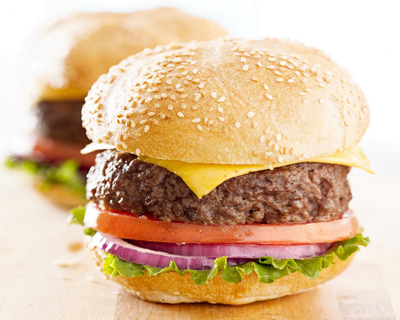 Обои для рабочего стола Гамбургер Фастфуд Булочки Еда Быстрое питание Пища Продукты питания