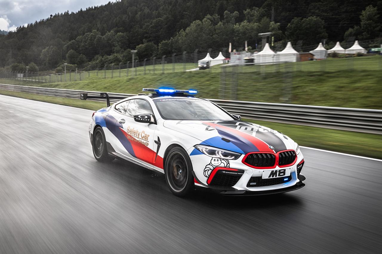 Картинка BMW Тюнинг MotoGP M8 F92 едущая Автомобили БМВ Стайлинг едет едущий Движение скорость авто машина машины автомобиль