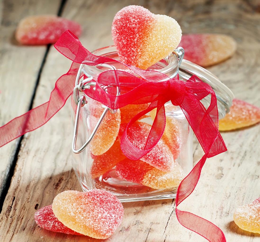Картинки сердечко Мармелад банки Лента Продукты питания Сладости серце сердца Сердце Банка банке Еда Пища ленточка сладкая еда