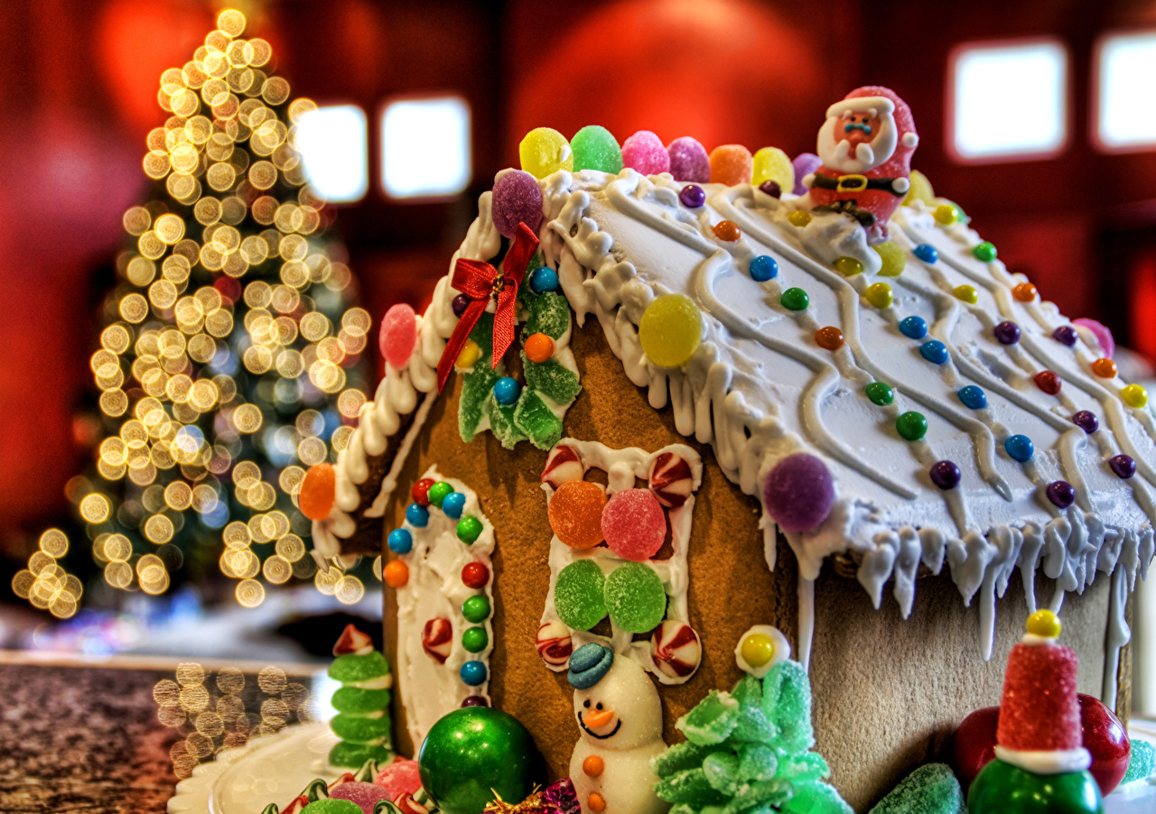 Фотография Рождество Торты Конфеты Еда Выпечка Праздники сладкая еда Новый год Пища Продукты питания Сладости