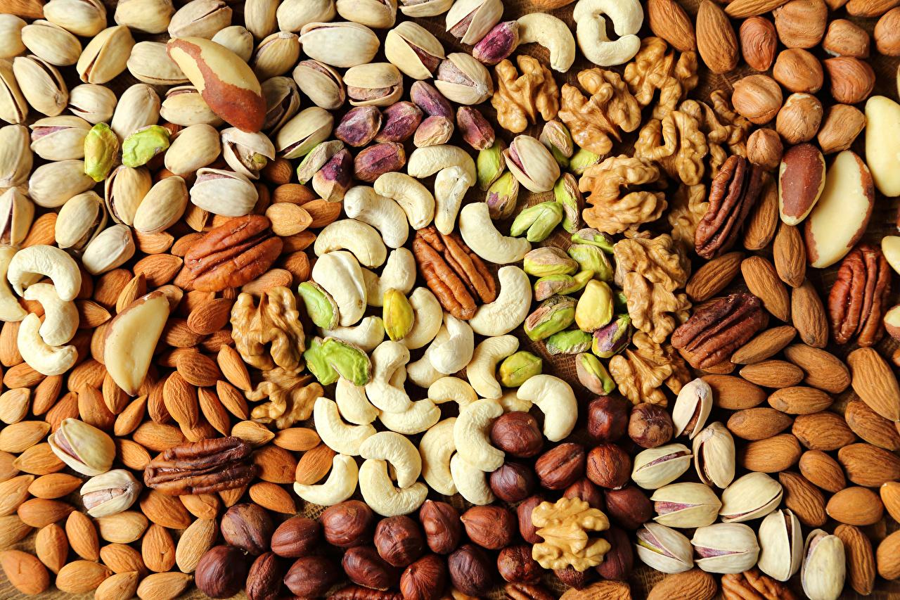 Картинка Еда Текстура Фундук Орехи Пища Продукты питания Лесной орех