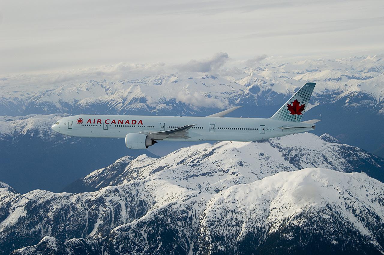 Обои авиалайнер, 777, пассажирский, boeing, Самолёт, боинг, 300-er. Авиация foto 17