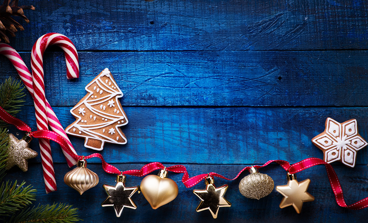 Фотография Новый год Снежинки Печенье ленточка Продукты питания Сладости Доски Дизайн Рождество снежинка Еда Пища Лента сладкая еда дизайна