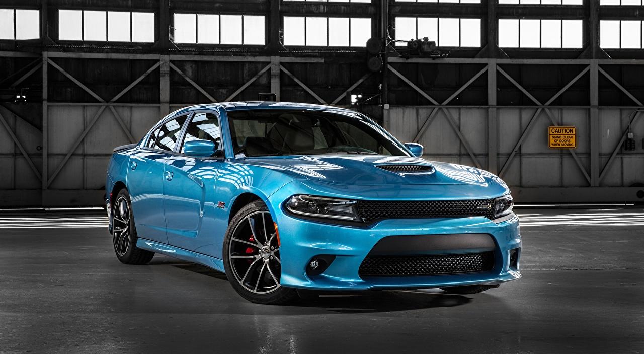Фотография Dodge Charger, R/T Scat Pack, 2015 Седан голубые Металлик Автомобили Додж голубая Голубой голубых авто машины машина автомобиль