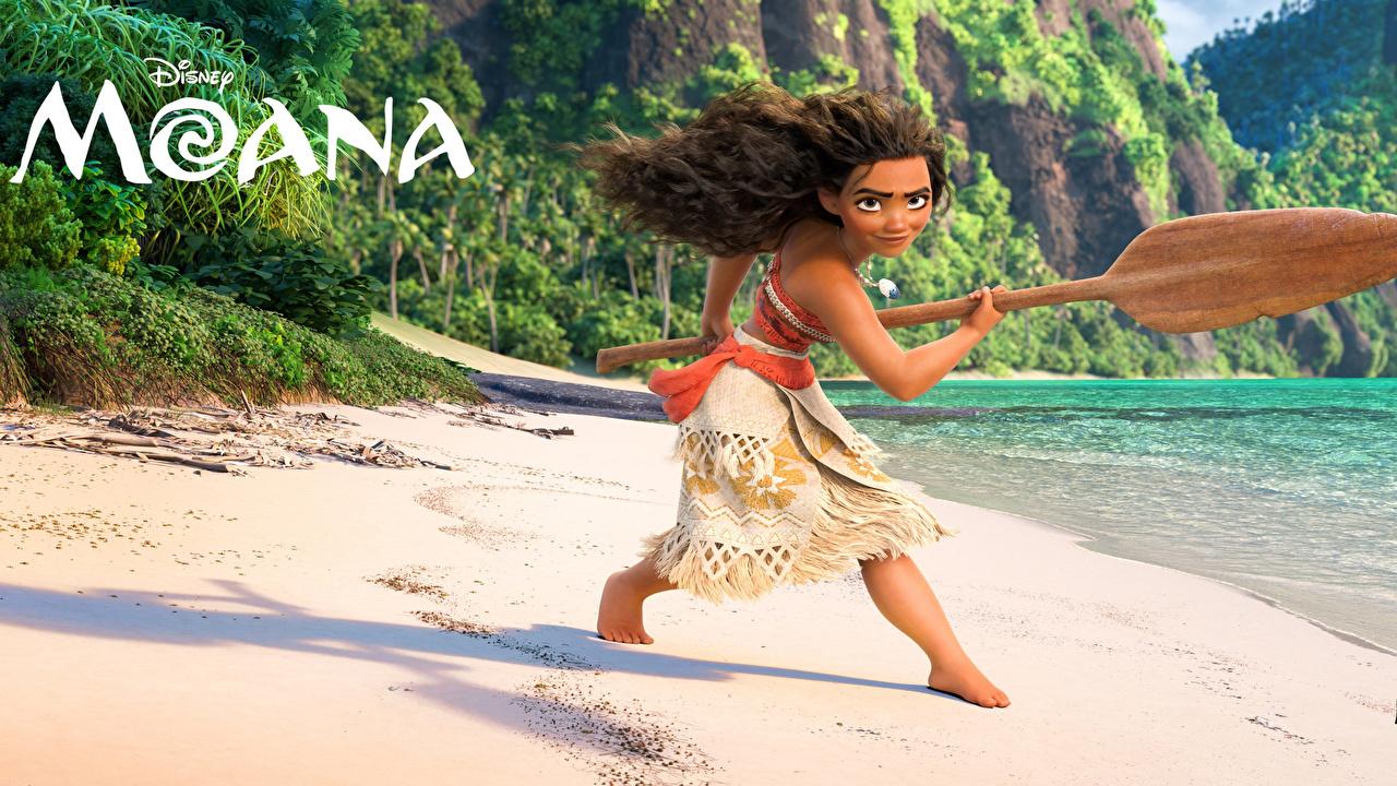Фото Disney Моана Maui Поза девушка Мультики Дисней позирует Девушки мультик Мультфильмы молодая женщина молодые женщины