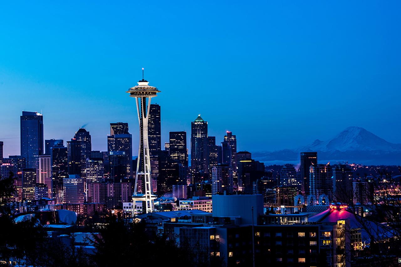 Картинки США мегаполиса Portland Небоскребы Дома город штаты америка Мегаполис Здания Города