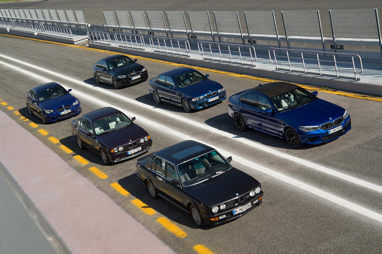 Фотография BMW 1985-2018 M5 авто Много БМВ машина машины автомобиль Автомобили