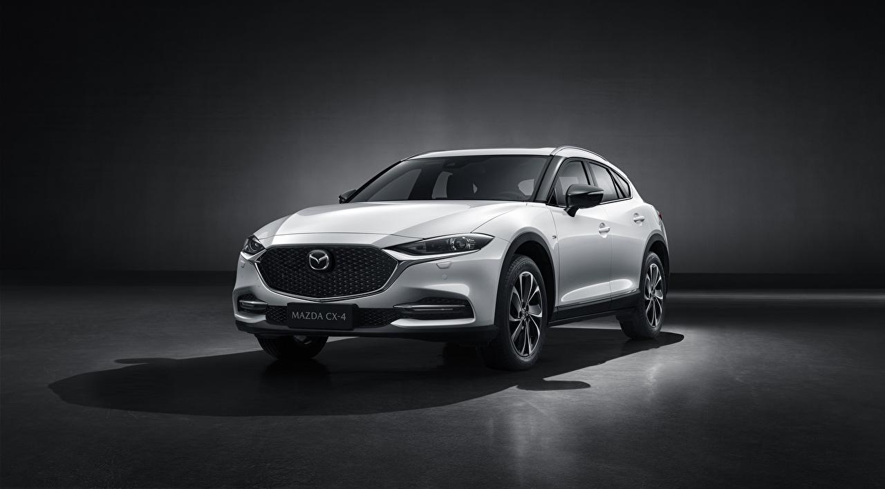 Фотографии Mazda CUV CX-4, 2019 Белый Металлик автомобиль Мазда Кроссовер белая белые белых авто машины машина Автомобили