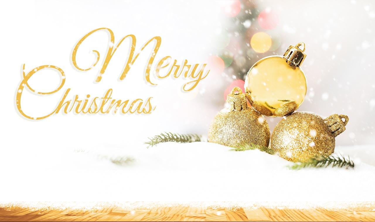 Фотография Новый год английская Снег Слово - Надпись Шарики Рождество Английский инглийские снега снегу снеге слова текст Шар