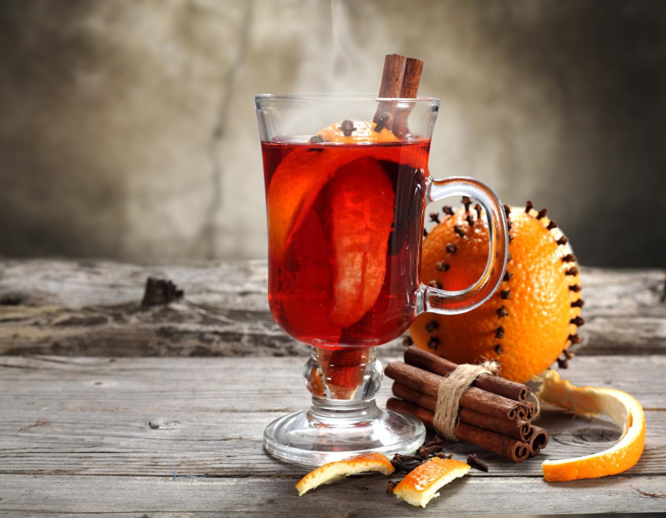 Фото Апельсин Корица Чашка Продукты питания Доски напиток Еда Пища чашке Напитки