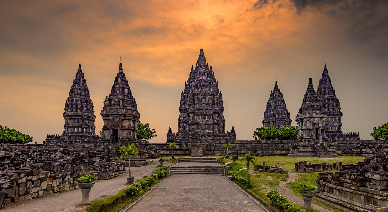 Фото Индонезия Prambanan Temple Jogjakarta храм город Храмы Города