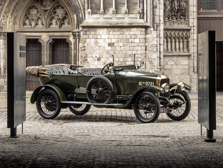 Картинка Vauxhall 1918 D-Type Army Staff Car кабриолета Ретро авто Ваухал Кабриолет винтаж старинные машина машины автомобиль Автомобили
