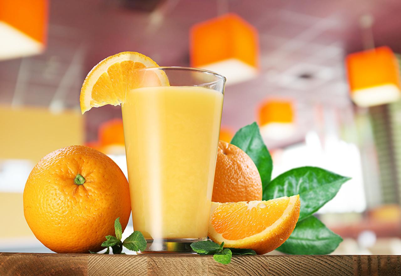 Фотография Сок Апельсин стакане Еда Напитки Стакан стакана Пища Продукты питания напиток
