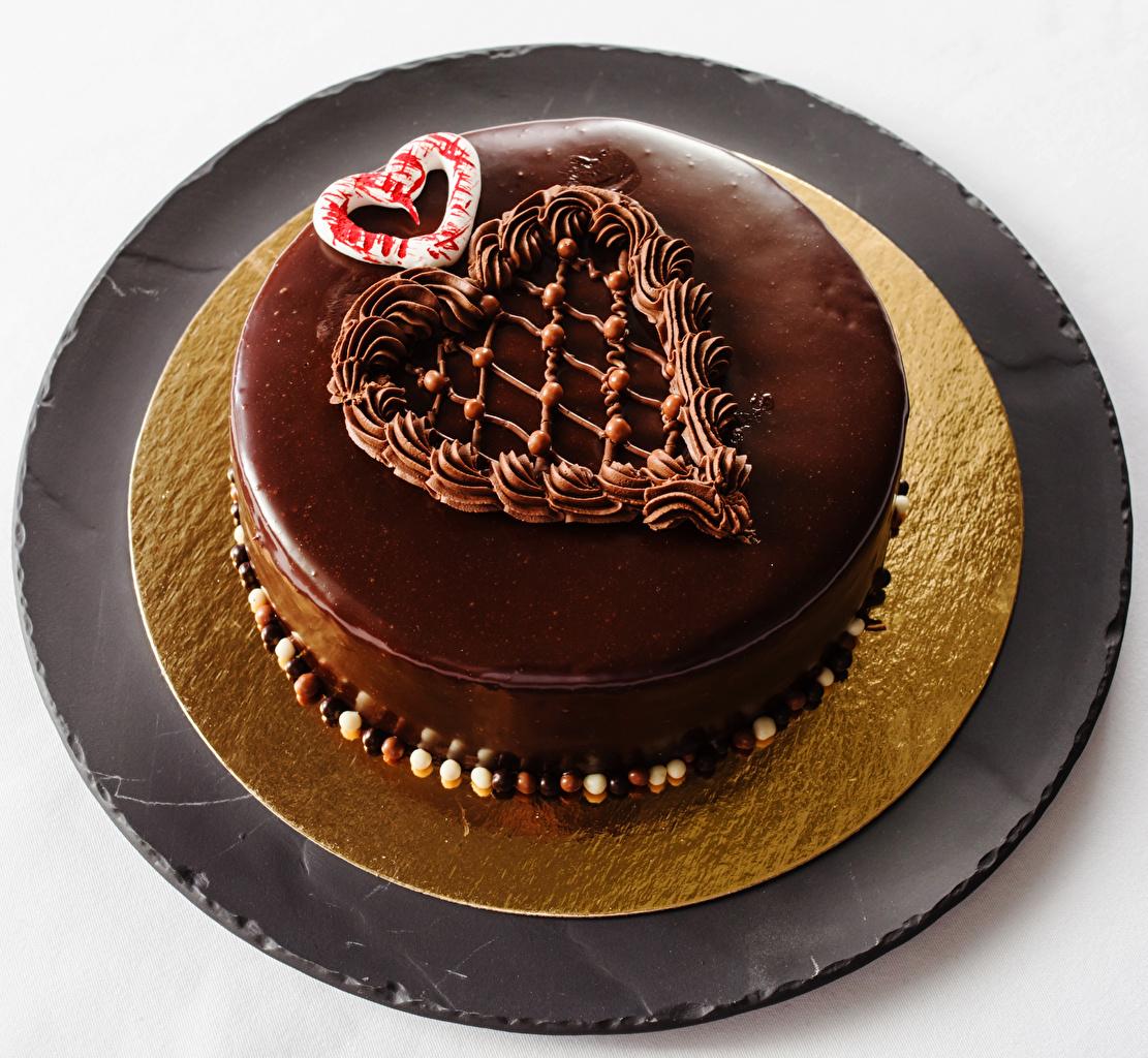 Картинки серце Шоколад Торты Продукты питания сладкая еда Сердце сердца сердечко Еда Пища Сладости