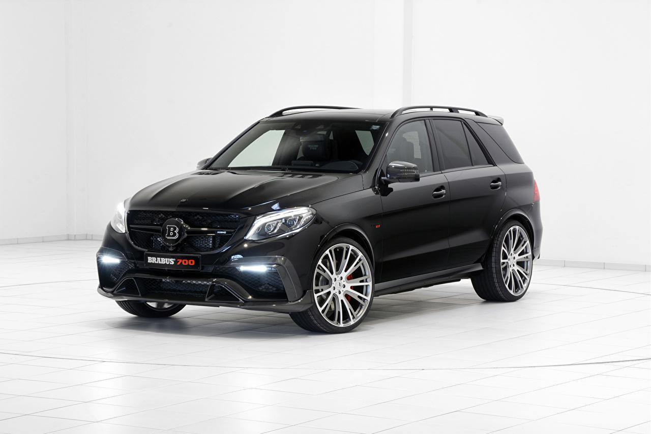 Фотография Mercedes-Benz Brabus W166 ML-Class черных машина Мерседес бенц Брабус черная черные Черный авто машины Автомобили автомобиль