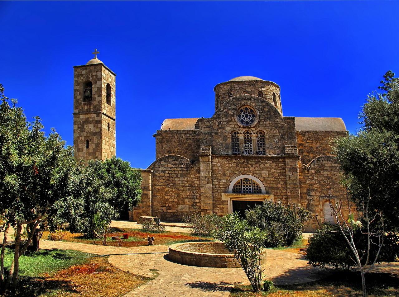 Картинки Монастырь Республика Кипр St. Barnabas Monastery Salamis Храмы Города храм город